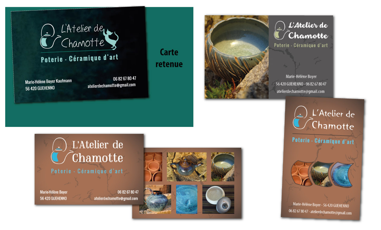 Carte De Visite Atelier Chamotte